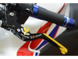 RIDEA スライド延長式アジャストレバー ブレーキ&クラッチセット 本体:ブラック アジャスト&エクステンション:ブルー