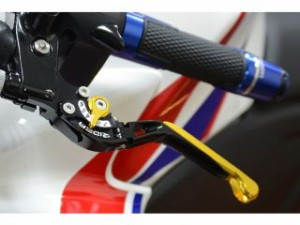 RIDEA 可倒スライド延長式アジャストレバー ブレーキ&クラッチセット 本体:チタン アジャスト&エクステンション:ブラック