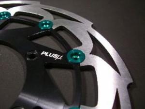 プラスミュー PLUSμ ディスク アルミフローティングピン タイプ-K 15.85mm レッド 8個セット