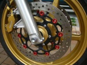 プラスミュー PLUSμ ディスク アルミフローティングピン タイプ-K 15.85mm ピンク 24個セット