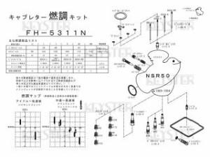 KEYSTER HONDA NSR50(AC10/1989-1994)用燃調キット