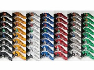 ユーカナヤ GPX250R GPX400R レバー スタンダードタイプ ショートアルミビレットレバーセット レッド ブラック