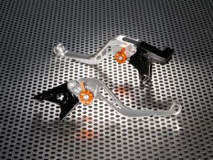 U-KANAYA スタンダードタイプ ショートアルミビレットレバーセット レバー:シルバー アジャスター:オレンジ