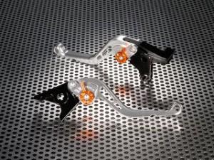 ユーカナヤ モンスターS2R1000 レバー スタンダードタイプ ショートアルミビレットレバーセット シルバー オレンジ