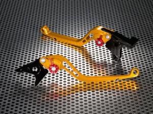 ユーカナヤ FZ1フェザー(FZ-1S) レバー スタンダードタイプ ロングアルミビレットレバーセット ゴールド オレンジ