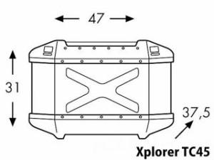 ヘプコアンドベッカー NC750X ツーリング用バッグ トップケース ホルダーセット Xplorer シルバー