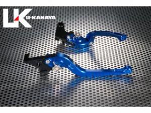 ユーカナヤ F800R レバー Rタイプ可倒式 アルミ削り出しビレットレバー ブルー ゴールド