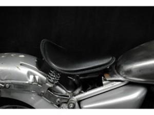部品屋K&W マグナ50 シート関連パーツ Magna50用 純正フェンダー対応ソロシートKIT スプリングタイプ(本革レース…