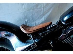 部品屋K&W バルカン400 シート関連パーツ 専用ソロシートKIT リジットタイプ(ステッチ) Aタイプ 薄茶