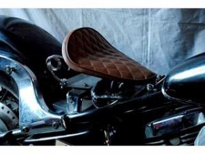 部品屋K&W バルカン400 シート関連パーツ 専用ソロシートKIT スプリングタイプ(ステッチ) Bタイプ 薄茶