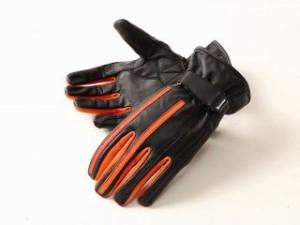 DEGNER デグナー レザーグローブ TG-29 ツーリンググローブ ブラック/オレンジ S