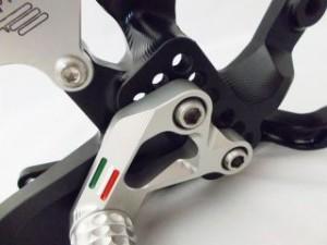 ギアモト S1000RR バックステップ関連パーツ バックステップキット スタンダードタイプ(ブルー) チタン
