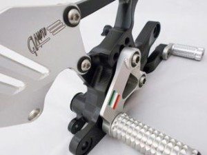 ギアモト YZF-R1 バックステップ関連パーツ バックステップキット スタンダードタイプ(シルバー) ゴールド