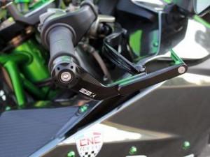 SSK ニンジャH2 ニンジャH2R ニンジャZX-10R レバー レバーガード 右側 グリーン チタン グリーン