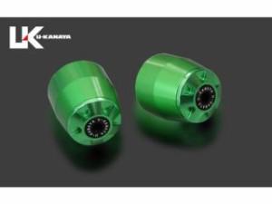 ユーカナヤ NC700S NC700X ハンドル関連パーツ アルミビレットハンドルバーエンド(グリーン) ブラック
