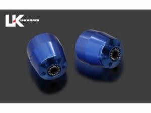 ユーカナヤ CBR600RR ハンドル関連パーツ アルミビレットハンドルバーエンド(ブルー) ブラック