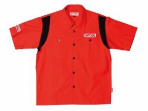 シンプソン MSH-011 Mechanic Shirts カラー:レッド サイズ:M