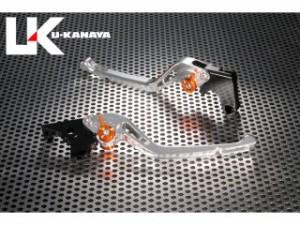 ユーカナヤ CB400フォア レバー GPタイプ アルミ削り出しビレットレバー(レバーカラー:シルバー) オレンジ