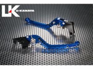 U-KANAYA GPタイプ アルミ削り出しビレットレバー(レバーカラー:ブルー) 調整アジャスターカラー:ブルー