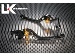 ユーカナヤ CB400F レバー GPタイプ アルミ削り出しビレットレバー(レバーカラー:ブラック) グリーン