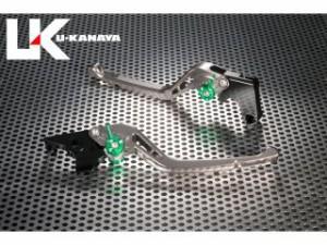 ユーカナヤ VFR750F レバー GPタイプ アルミ削り出しビレットレバー(レバーカラー:チタン) ブラック