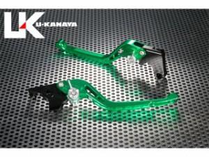 ユーカナヤ Dトラッカー125 レバー GPタイプ アルミ削り出しビレットレバー(レバーカラー:グリーン) チタン