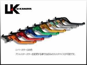 ユーカナヤ GPZ750R レバー GPタイプ アルミ削り出しビレットレバー(レバーカラー:オレンジ) ゴールド