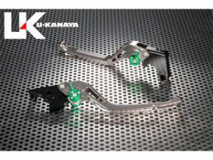 ユーカナヤ ニンジャZX-14R レバー GPタイプ アルミ削り出しビレットレバー(レバーカラー:チタン) チタン
