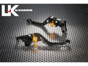ユーカナヤ ニンジャZX-10R レバー GPタイプ アルミ削り出しビレットショートレバー(レバーカラー:ブラック) ゴールド