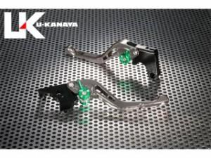 ユーカナヤ GPタイプ アルミ削り出しビレットショートレバー(レバーカラー:チタン) 調整アジャスターカラー:グリーン