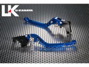 ユーカナヤ ジェンマ レバー GPタイプ アルミ削り出しビレットレバー(レバーカラー:ブルー) ブラック