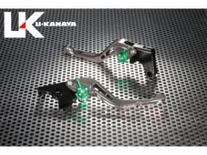ユーカナヤ GSX-R1000 レバー GPタイプ アルミ削り出しビレットショートレバー(レバーカラー:チタン) オレンジ