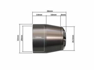 U-KANAYA アルミビレットハンドルバーエンド(ブラック) エンドキャップカラー:チタン