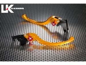 ユーカナヤ ツーリングタイプ アルミ削り出しビレットレバー(レバーカラー:ゴールド) カラー:調整アジャスター:オレンジ