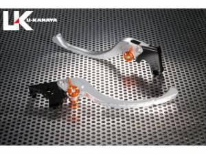 ユーカナヤ F800R レバー ツーリングタイプ アルミ削り出しビレットレバー(レバーカラー:シルバー) 調整アジャスター:ブ…