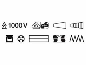 KNIPEX クニペックス ハンドツール 1396-200 絶縁エレクトロプライヤー(スプリング付)(SB)