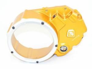 ドゥカバイク DUCABIKE ドレスアップ・カバー クリアークラッチカバー(オイル・アクアリウム) ゴールド/シルバー