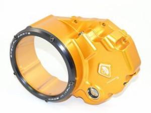 ドゥカバイク DUCABIKE ドレスアップ・カバー クリアークラッチカバー(オイル・アクアリウム) ゴールド/ブラック