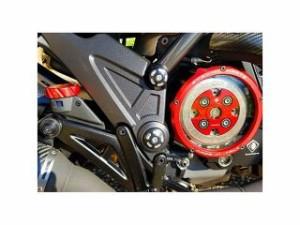 ドゥカバイク ディアベル クラッチ 湿式用 アルミビレット・クラッチプレッシャープレート DIAVEL 16-17 レッド