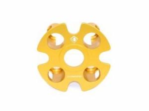 ドゥカバイク ディアベル クラッチ 湿式用 アルミビレット・クラッチプレッシャープレート DIAVEL 16-17 ゴールド