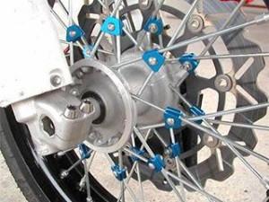 アウテックス WR250X ハブ・スポーク・シャフト スポークブースター フロント用 ブルーアルマイト