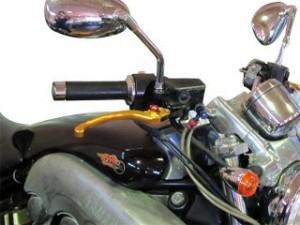 ユーカナヤ ニンジャ400 レバー スタンダードタイプ アルミ削り出しビレットショートレバー(レバーカラー:チタン) 調整アジ…