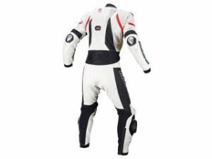 コミネ KOMINE レーシングスーツ 2018年春夏モデル S-51 チタニウムレザースーツ(ホワイト/ブラック) S
