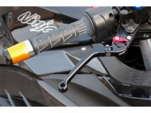 SSK CBR1000RRファイヤーブレード レバー 可倒式アジャストレバー クラッチ&ブレーキセット(ブルー) シルバー