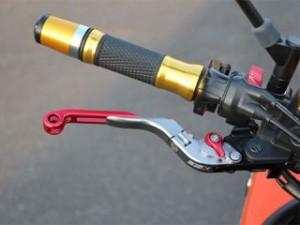 SSK CBR1000RRファイヤーブレード レバー 可倒延長式アジャストレバー クラッチ&ブレーキセット(ブラック) グリー…