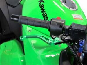 ユーカナヤ Z900 レバー スタンダードタイプ アルミ削り出しビレットショートレバー(レバーカラー:チタン) 調整アジャスタ…