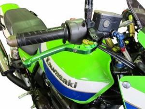 ユーカナヤ 400X レバー Rタイプ 可倒式 アルミ削り出しビレットレバー(レバーカラー:ブラック) 調整アジャスター:ブルー