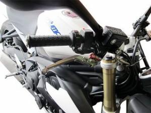 ユーカナヤ バンディット1200 レバー Rタイプ 可倒式 アルミ削り出しビレットレバー(レバーカラー:ブラック) 調整アジャ…