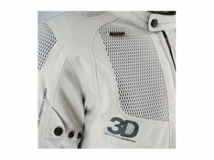 コミネ 2015春夏モデル JK-081 ツアラーメッシュジャケット 3D カラー:アイボリー サイズ:XL