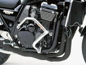 ゴールドメタル ZRX1100 エンジンガード スラッシュガード サブフレーム付 バフ仕上げ
